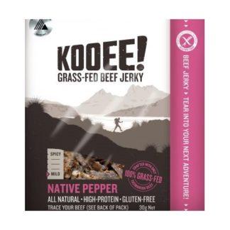 Kooee Beef Jerky - Native Pepper 30g
