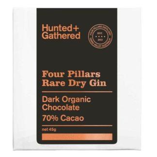 Hunted and Gathered Rare Dry Gin Organic Dark Chocolate 45g
