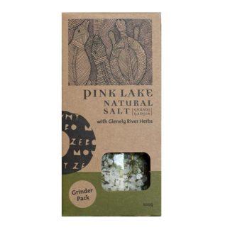Pink Lake Salt with Herbs