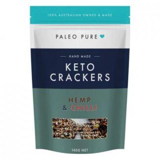Paleo Pure Keto Crackers Hemp and Chilli