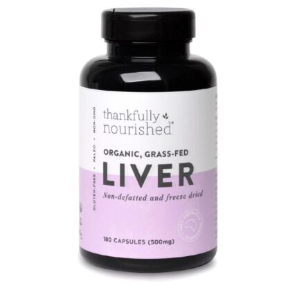 Thankfully Nourished Organic Grass Fed Liver 180c